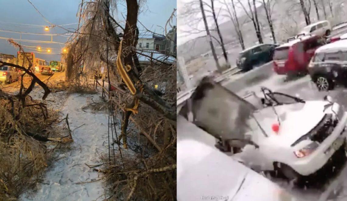 露西亞遠東 凍雨變冰風暴落地 一停電就係6日