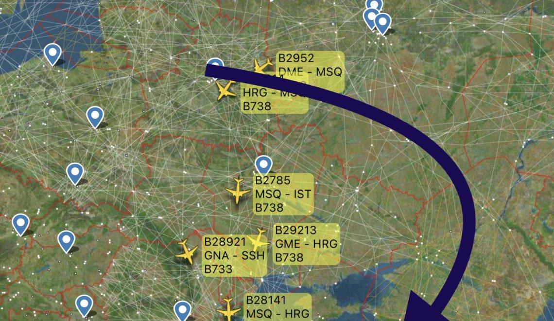 烏克蘭週六零時對白露西亞航空公司關閉領空