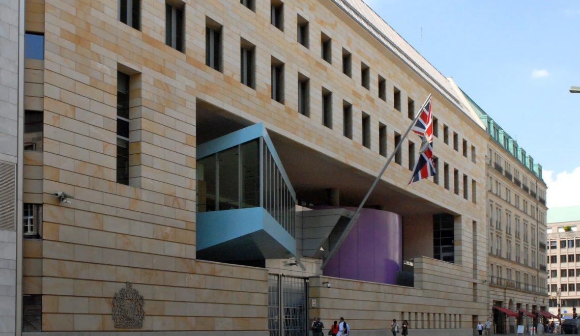 【突發】英駐柏林使館職員涉嫌做露諜被捕