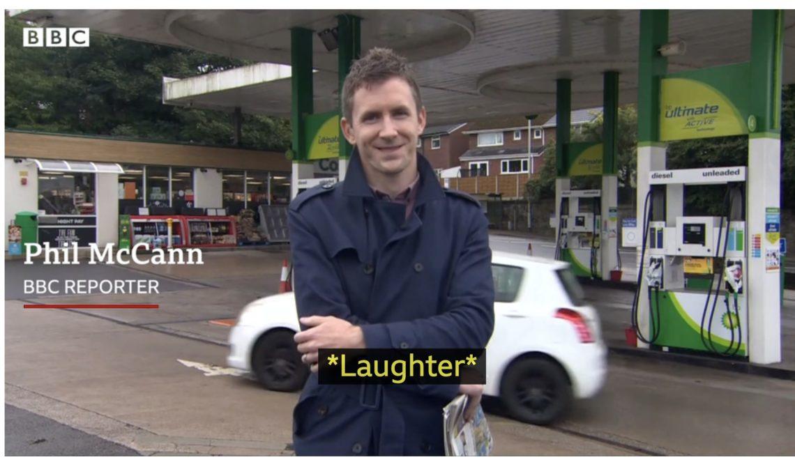 BBC 記者莊滿貫報導油站缺油新聞變viral